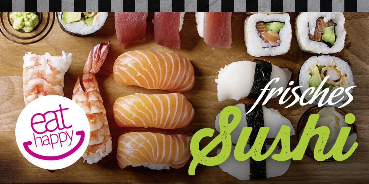 Täglich frisch gerolltes Sushi zum Mitnehmen!